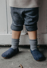 Home Shoe Wool Basic Blue