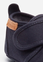 Home Shoe Cotton Velcro Navy