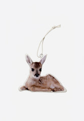 Reindeer Porcelain Ornament