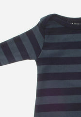Vintage Blue & Navy Striped All-In-One