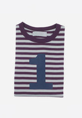 Plum & Dove Grey Number T-Shirt