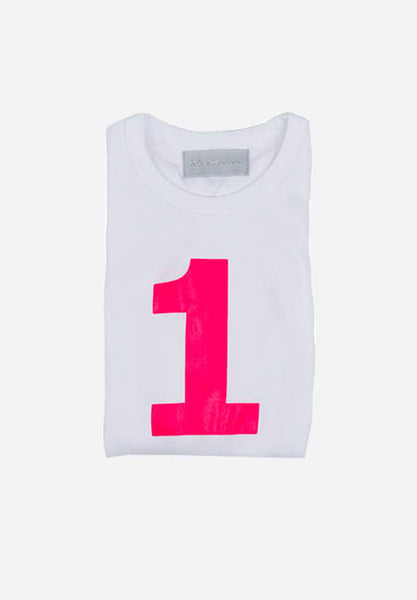 White Skinny Number T-Shirt