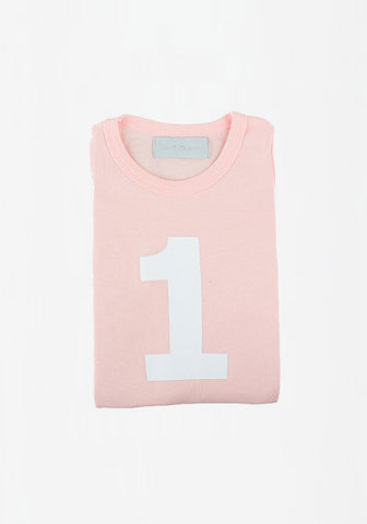 Number Tee Marshmallow & White