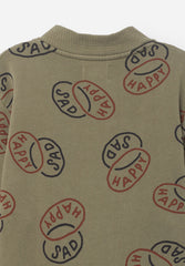 Happy Sad Buttons Sweatshirt