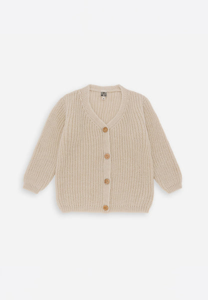 Beaded Knit Cardigan Off-White