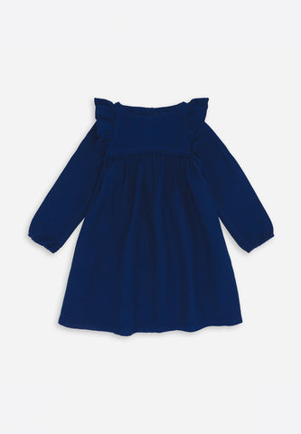 Wing Sleeve Dress Bleu Klein