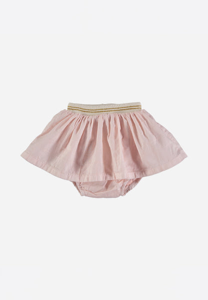 Bambina Voile Check Culotte-Skirt Light Pink