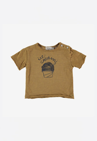Cesar Baby Ice Cream T-Shirt Moutarde