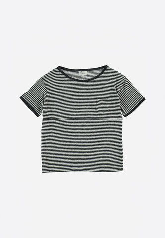 Elliot Striped Jersey T-Shirt Nuit