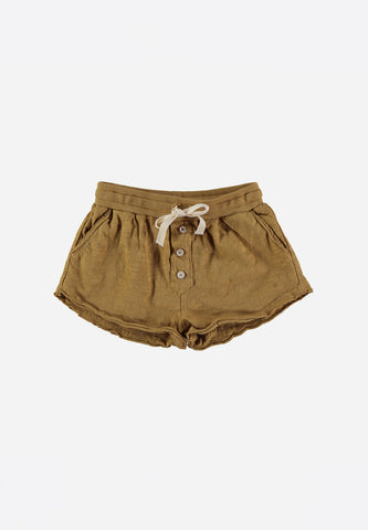 Maylis Cotton Jersey Short Moutarde