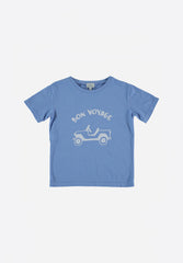 Leo Organic Cotton T-Shirt Bleu