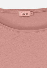 Isabelle Sister Cotton Linen 3/4 T-Shirt Old Rose