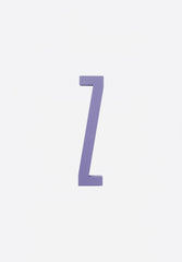 Wooden Letters A-Z Purple