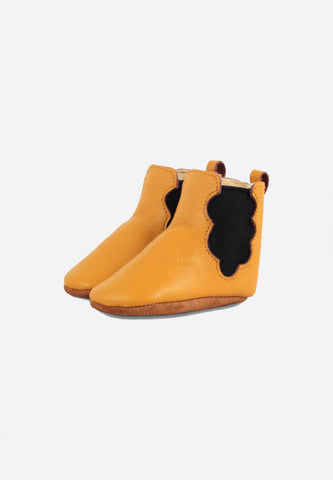 Lined Cloud Booties Caramel