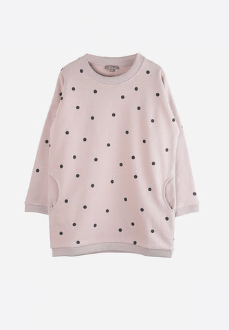 Robe Sweat Rose Pois