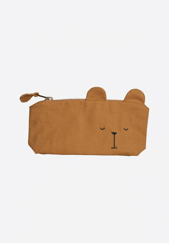 Pencil Case Bear Ochre