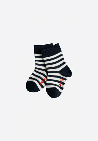 Stripe Baby Socks Navy