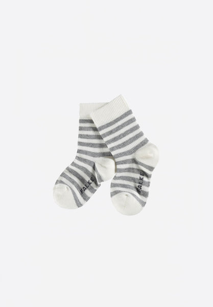 Stripe Baby Socks Light Grey