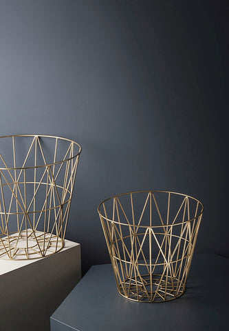 Wire Basket Brass