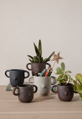 Mus Plant Pot Dark Grey