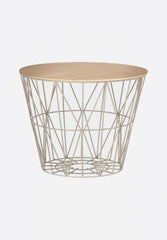 Oiled Oak Wire Basket Top