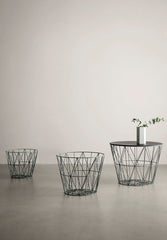 Wire Basket Top Black Oak