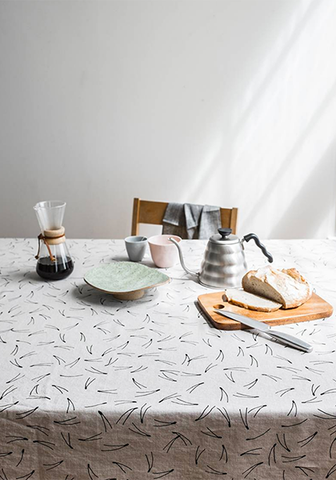 Barr Tablecloth Nature Black