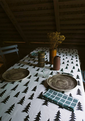 Gran Tablecloth Black