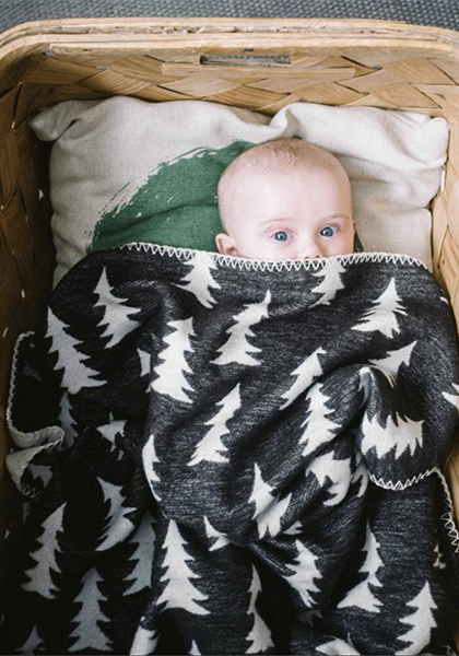 Organic Gran Woven Child Blanket