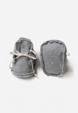 Raw Edged Baby Booties