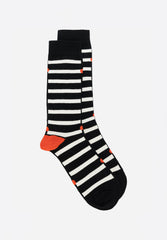 Note Band Socks White Piano