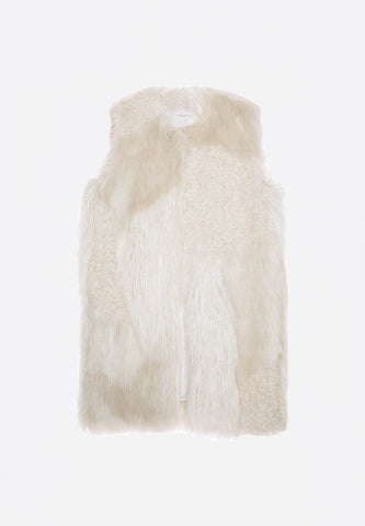 Fur Vest Off White