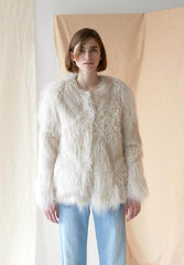 Fur Jacket Off White