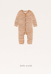 Greeting Card Baby Onesie Ochre