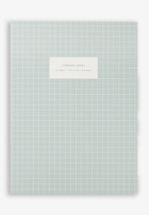 Large Notebook Check Light Blue