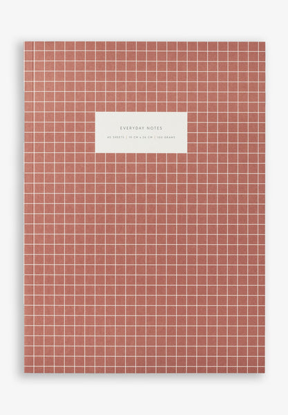 Large Notebook Check Brick Red