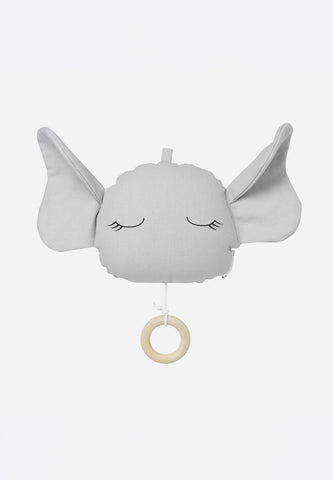 Alma Music Mobile Elephant Dumbo Grey