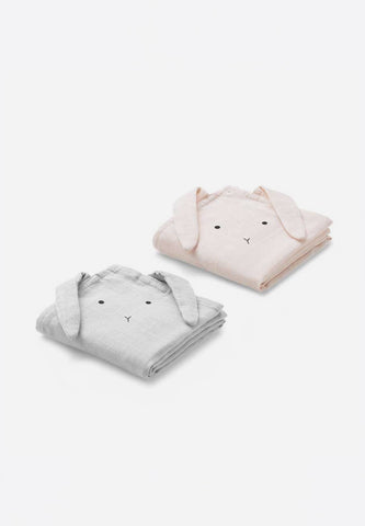 Hannah Muslin Cloth Rabbit 2 Pack