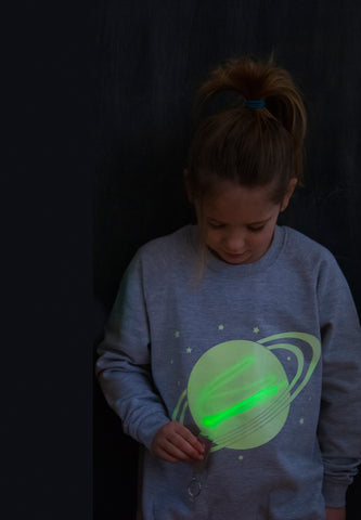 Solar System Glow In The Dark Interactive Sweatshirt