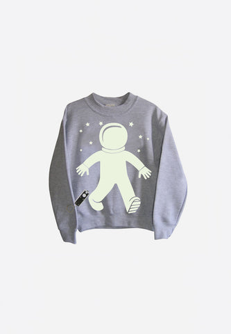 Spaceman Glow In The Dark Interactive Sweatshirt
