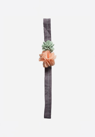 Fluff Flowers Hair Band Rose & Green