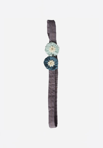 Mini Flowers Hair Band Aqua
