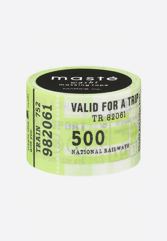 Washi Masking Tape Travel Ticket City