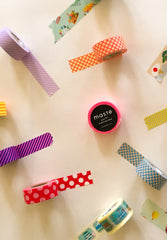 Washi Masking Tape Neon Blue Polka Dots