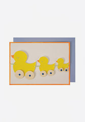 Duck Pull Along Greeting Card