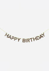 Happy Birthday Glitter Garland