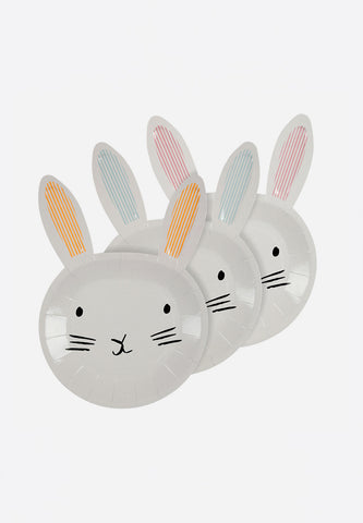 Bunny Shaped Easter Plates