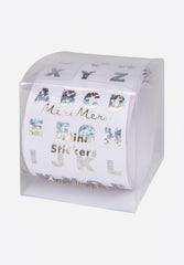 Sparkly Silver Alphabet Stickers On A Roll