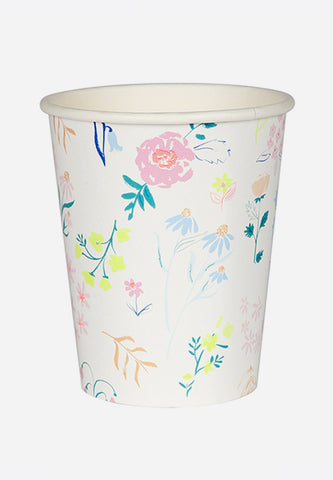 Wildflower Pattern Party Cups