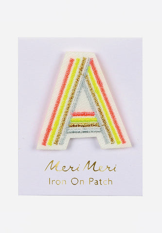 Alphabet Iron-On Patch